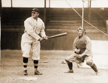 Augusta, GA, March 18, 1926 – Ty Cobb hits with his new spectacles