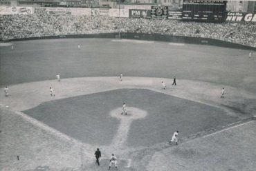 Yankee Stadium, Bronx, NY, October 5, 1947 – Dodgers Al Gionfriddo robs Yankees Joe DiMaggio in Game Six action