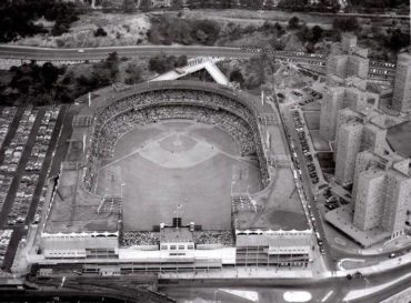 Polo Grounds, Manhattan, NY, October 2, 1951 – Game Two of the memorable playoff series between the NY Giants and Brooklyn Dodgers