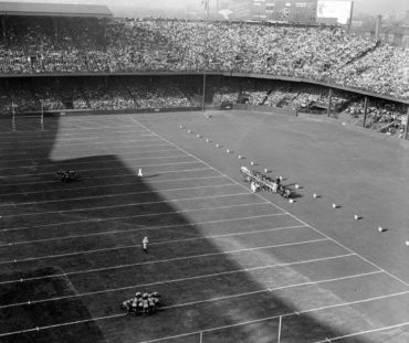 NFL in Ballpark Series -Detroit, MI, October 16, 1938 – The first ever Lions game at Briggs Stadium (Tiger Stadium)