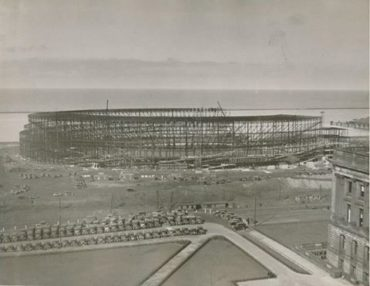 Cleveland, Ohio, March 14, 1931 – Construction is well underway on Cleveland Municipal Stadium