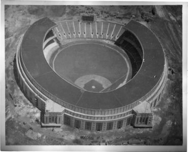 Cleveland Municipal Stadium, 1931 – Completion is near for the future Indians home