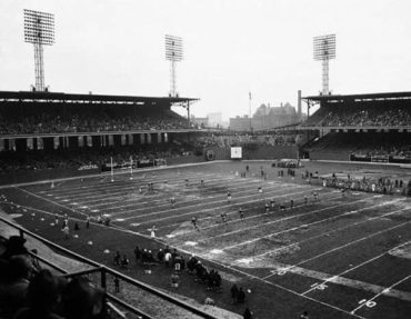NFL in Ballpark Series, Comiskey Park, Chicago, IL, November 10, 1946 – Chicago Cardinals fall to the Green Bay Packers 19-7
