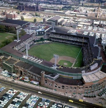 Comiskey Park, Chicago, 1959 – World Series action between the Los Angeles Dodgers and Chicago White Sox