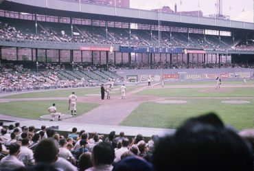 Polo Grounds, Manhattan, NY, July 5, 1963- The Mets Duke Snider is up at bat against the Pirates