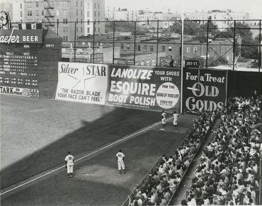 Ebbets Field, Brooklyn, NY, October 1, 1950 – Pee Wee Reese homers but Phillies win game and NL Pennant