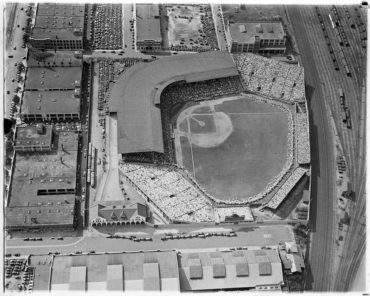 Braves Field, Boston, MA 1933 – Leslie Jones wonderful aerial photo of a classic Beantown ballpark, home to Braves (1915-1952)