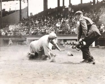 Fenway Park, Boston, MA, July 6, 1927 – Emerging power in the A's take on the hapless Red Sox in American League action