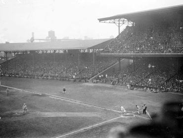 Shibe Park, Philadelphia, PA, October 8, 1913 – World Series pitching duel as Christy Mathewson outlasts Eddie Plank