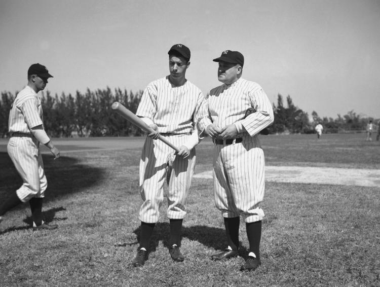 Joe DiMaggio Makes His First Appearance in a Yankee Uniform!