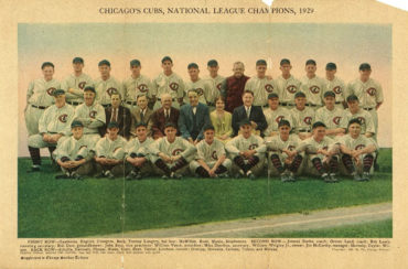 What's Unique About this 1929 Cubs' Team Photo??