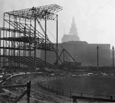 Cleveland, Ohio, November 22, 1930 – Construction is at the beginning stages of Cleveland Municipal Stadium