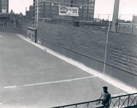 Baker Bowl, Philadelphia, PA, ca 1930s – Its right field wall, not Green Monster, was tallest in MLB history standing at 60 feet