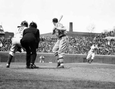 Wrigley Field, Chicago, IL, April 21,1940 – Chicago's Dizzy Dean takes loss to his old team the Cardinals in his first start of the year