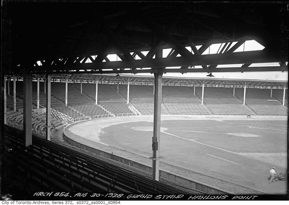 Hanlan's Point Stadium, Toronto, 1928 – Babe Ruth, America's biggest sports legend, hit his first pro home run here in Canada in 1914