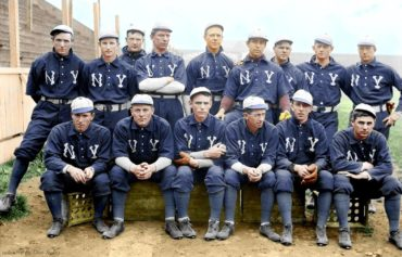 1903 New York Highlanders Colorized by Don Stokes!