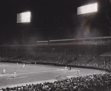 Fenway Park, Boston, MA, June 13, 1947 – Red Sox finally turn the lights on for first time in 5-3 over White Sox