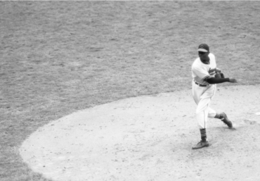 Cleveland Municipal Stadium, October 10, 1948 – Satchel Paige comes in relief in his only World Series appearance and puts out the fire for the Indians