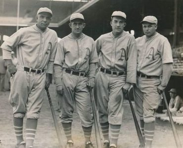 "The Philadelphia Athletics Complete A ""Double Triple Steal""!"
