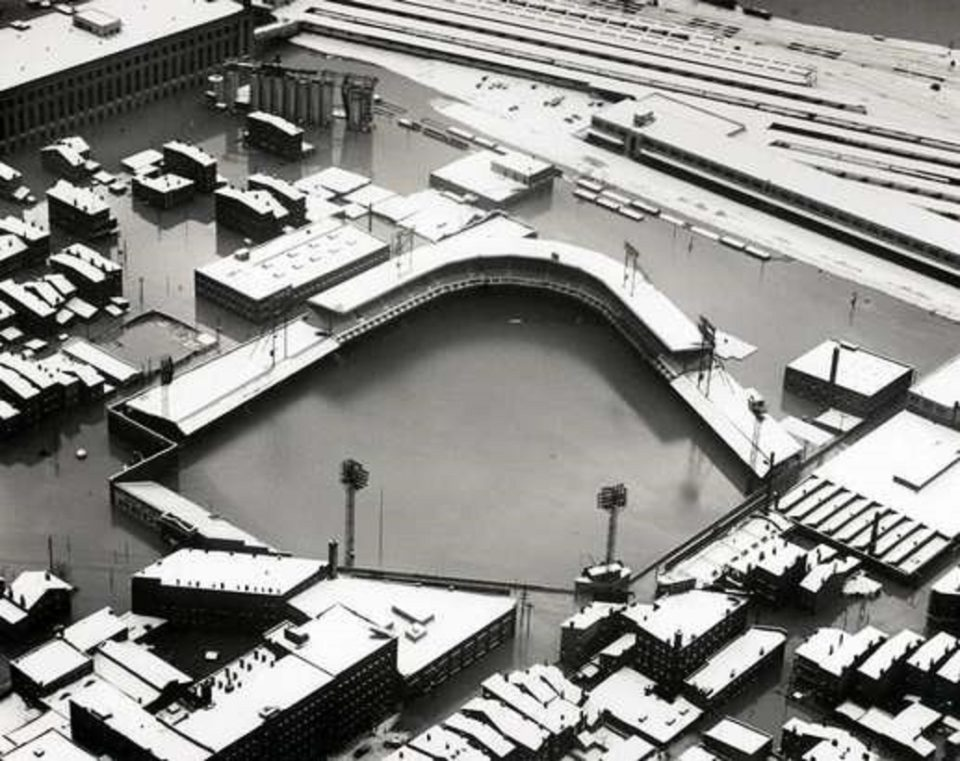The Historic Flood of 1937 Devastates Cincinnati's Crosley Field!