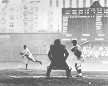 Yankee Stadium, Bronx, NY, October 1, 1933 – In last game of season Ruth shows he still has it has a pitcher