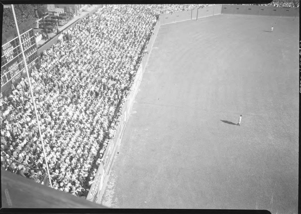 Sportsman Park, St Louis, MO, October 5, 1934 – Charlie Trefts photo taken during 1934 World Series between the Tigers and Cardinals