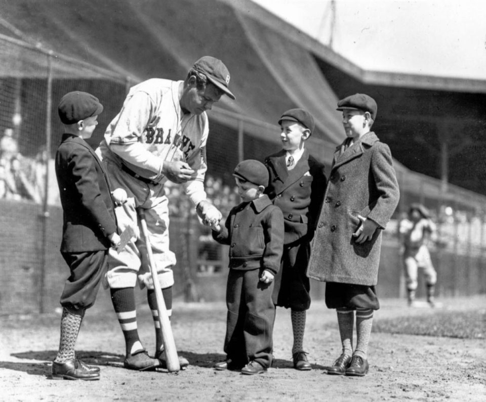 Babe Ruth And Kids, 1935  -9115