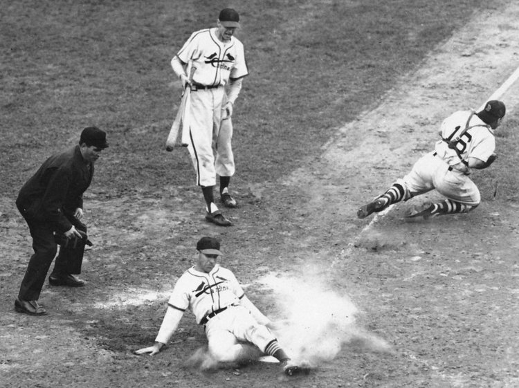 """Enos Slaughter's """"Mad Dash"""" Wins The 1946 World SeriesAs Johnny Pesky Holds The Ball!"""