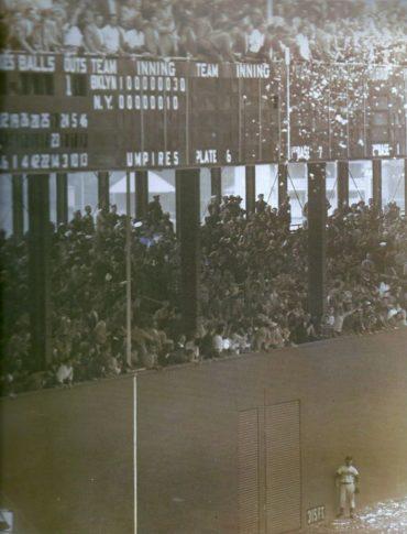 "Polo Grounds, Manhattan, NY, October 3, 1951 – 65 years ago today Bobby Thomson hits the ""Shot Heard 'Round the World"""
