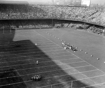 NFL in Ballpark Series -Detroit, MI, October 16, 1938 – The first ever Lions game at Briggs Stadium (Tiger Stadium)