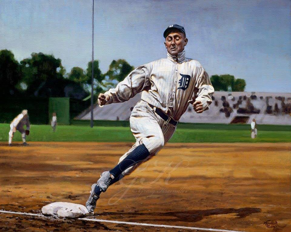 Ty Cobb Resigns with the Tigers for $4,000!