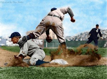 Classic Ty Cobb from Charles Conlon Collection – Colorized by Don Stokes!