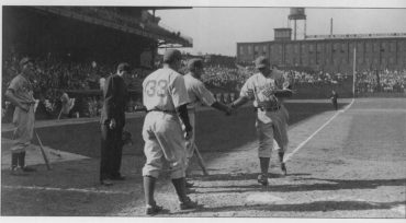 Baker Bowl, Philadelphia, PA, April 19, 1938 – Dodgers Dolph Camilli hits HR to help spoil Phillies home opener
