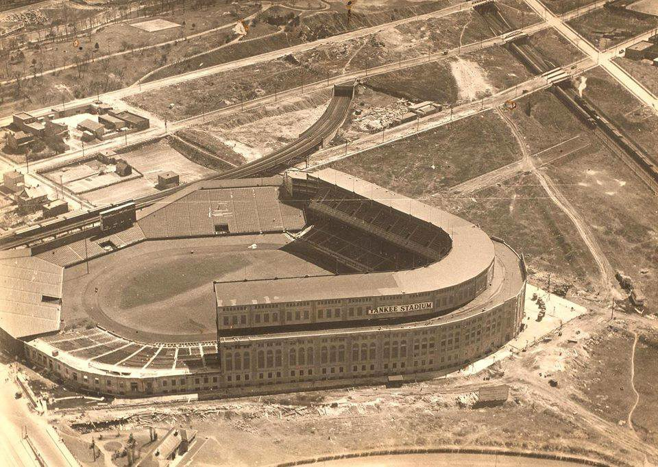 Yankee Stadium, Bronx, NY, 1923 – A personal favorite photo of mine, it was taken just before it opened on April 18th
