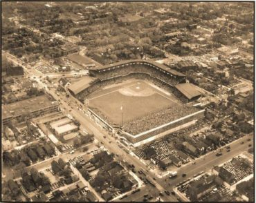 Navin Field, Detroit, MI, October 2, 1935 – Action in Game One of World Series as Tigers look for their first title