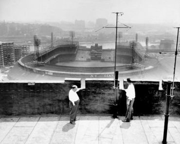 Polo Grounds, Manhattan, NY, July 4, 1950 – Baseball fan shot and killed at baseball game by stray bullet and game went on