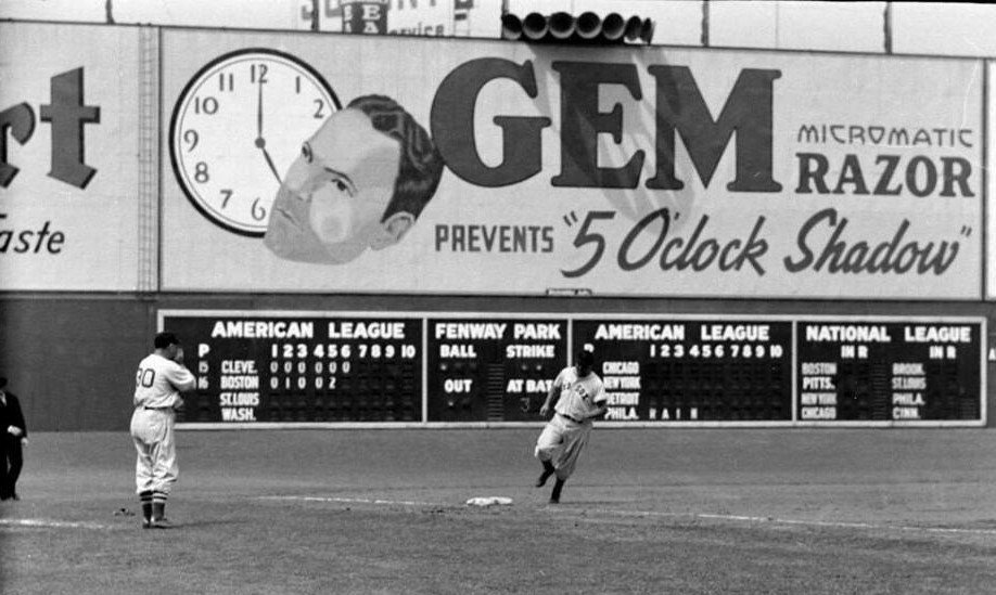 Fenway Park, Boston, MA, July 25, 1938 – Red Sox slugger Jimmie Foxx hits 27th home run of year in 4-0 win over Indians