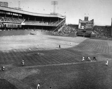 Manhattan, NY, September 29, 1957 – Final out of the Giants last game at the Polo Grounds ends a remarkable era