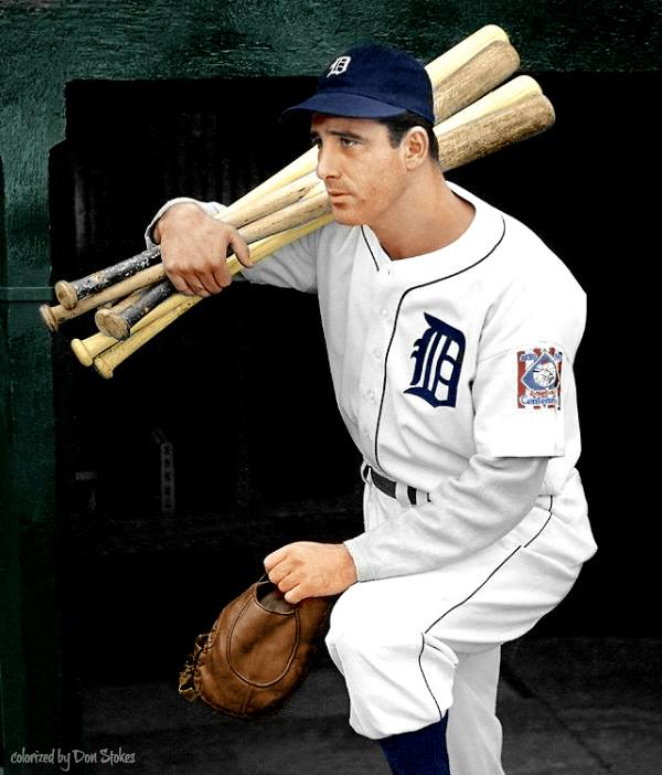 Beautiful Colorization of Hank Greenberg by Don Stokes!