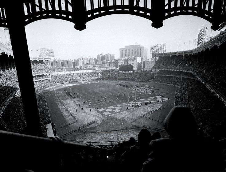 Yankee Stadium, Bronx, NY, December 30, 1956 – It's deja vu again as Giants resort to wearing sneakers to beat Bears in 1956 NFL Championship game 47-7
