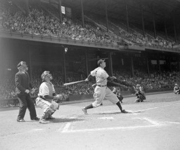 Shibe Park, Philadelphia, PA, April, 29, 1947 – Legendary sluggers Hank Greenberg and Ralph Kiner lead Bucs to victory with home runs