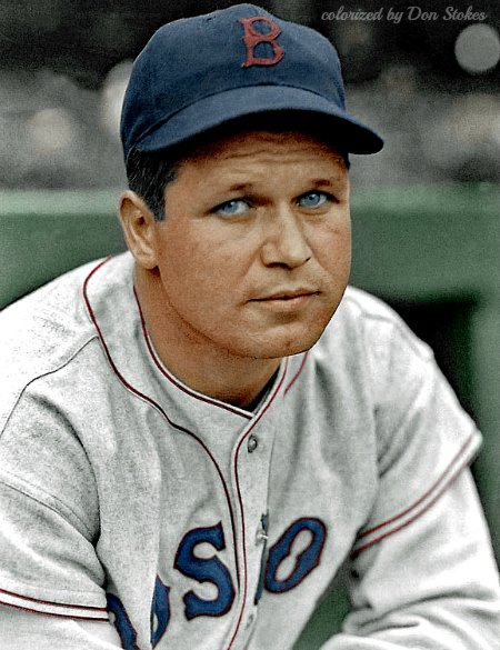 Beautiful Don Stokes Colorization of Jimmie Foxx!