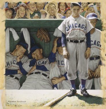 "The Iconic Norman Rockwell Painting: ""The Dugout""!"